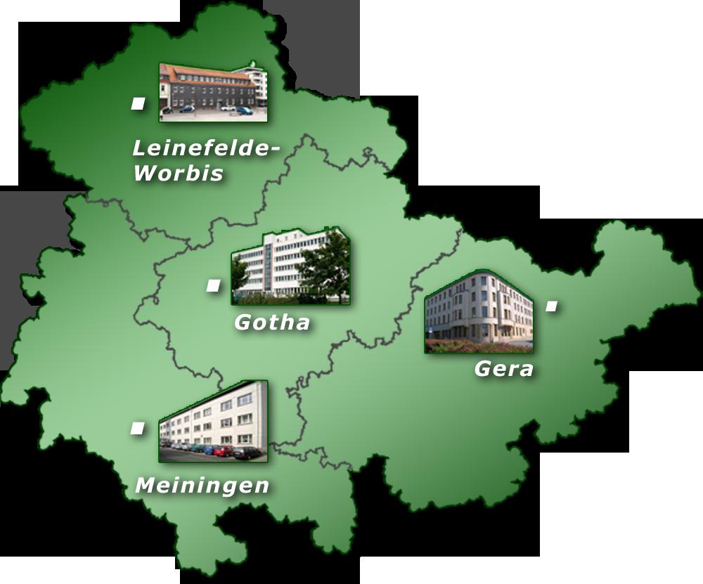 Dienststellen des VLF Thüringen